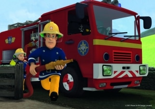 Illustrazione del fumetto del pompiere di tema di occupazione del